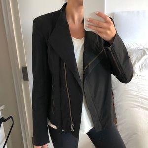 Helmut Lang Black Nylon Zip Up Utility Jacket